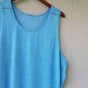 Lululemon Mens Heather Muscle Tank Solid Blue XL